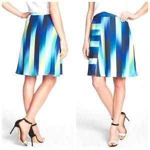 TRINA TURK CALIFORNIA Colorful Front Slit Skirt